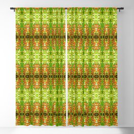 Heliconia Red Claws Pattern Blackout Curtain