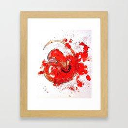 Alien chestbursting Framed Art Print