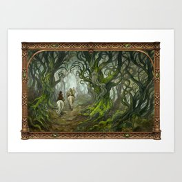 Old Forest (bordered) Art Print
