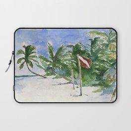 Beach, Tulum, Mexico Laptop Sleeve
