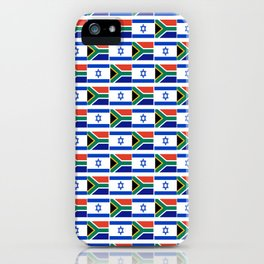 Mix of flag: Israel and south africa iPhone Case