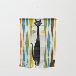 Mid-Century Modern Art Cat 2 Wall Hanging