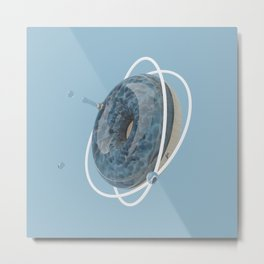 Planet Donut Metal Print