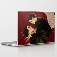 arya Laptop & iPad Skins featuring My Featherbed by aqvarelles