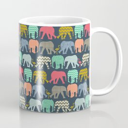baby elephants and flamingos Coffee Mug