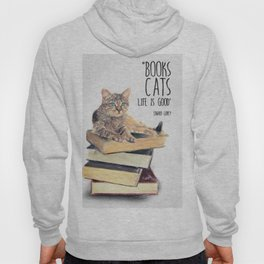 Cat Quote By Edward Gorey Hoody