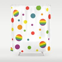 pride Shower Curtains featuring Pride by discojellyfish