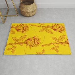 Yellow Roses pattern Rug