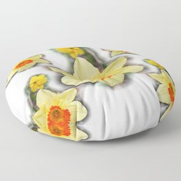 Daffodils in the Woods Floor Pillow