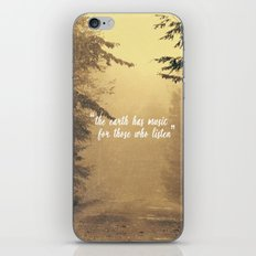 The earth has music  iPhone & iPod Skin