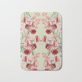 Dramatic Florals (Red Botanic Floral Print) #society6 Bath Mat
