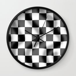 Chequered Flag Slight Ripple Wall Clock