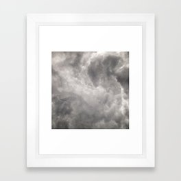 #268 Stormy African Clouds Framed Art Print