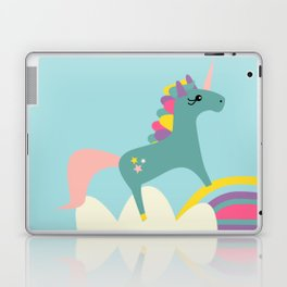 unicorn and rainbow blue Laptop & iPad Skin