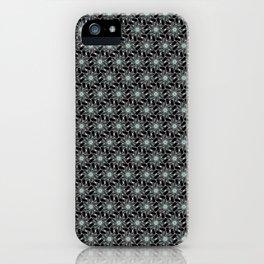 Hand Fan Radial Black & Silver Art Deco Design Pattern iPhone Case