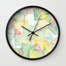 Watercolor Triangle Pattern - Katrina Niswander Wall Clock