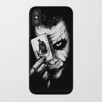 joker iPhone & iPod Cases featuring Joker by NickHarriganArtwork