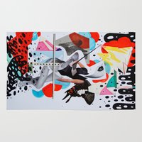 sassy Area & Throw Rugs featuring Sassy #4 by Ryan Bubion