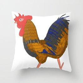 The cock Throw Pillow