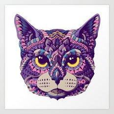Cat Head (Color Version) Art Print