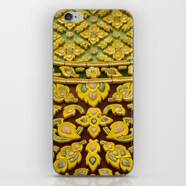 flower statue in Thai style iPhone Skin