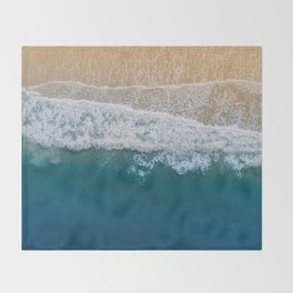 Water on the Beach (Color) Throw Blanket