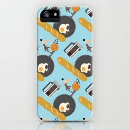 Breakfast Pattern #2 iPhone Case
