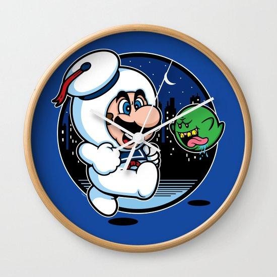 Super Marshmallow Bros. Wall Clock