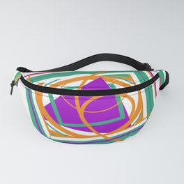 An Abstract: The Purple Triangle Fanny Pack