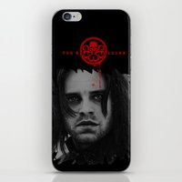"bucky barnes iPhone & iPod Skins featuring Bucky Barnes ""The Winter Soldier"" Portrait by thecannibalfactory"