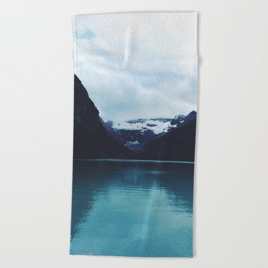 Moody Lake Louise Beach Towel