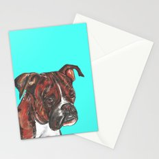 Boxer printed from an original painting by Jiri Bures Stationery Cards