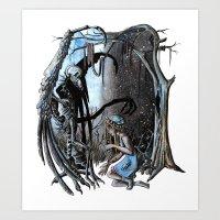 nightmare Art Prints featuring Nightmare by Ju.jo.weh