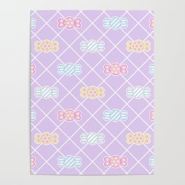 Candy Pattern Poster
