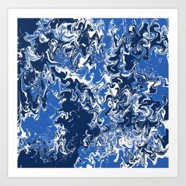 BYU Tie Dye  Art Print