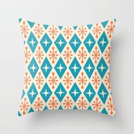 Mid Century Modern Atomic Triangle Pattern 107 Throw Pillow