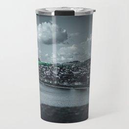 Cityscape Möhne From Reservoir Barrage Wall dark Travel Mug