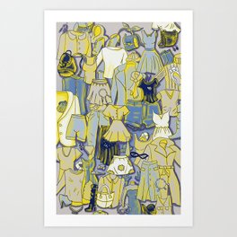 YELLOW CLOTHES Art Print