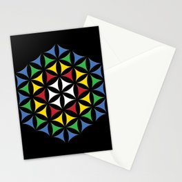 Rubix Flower Color Stationery Cards