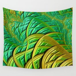 patterns green yellow string Wall Tapestry