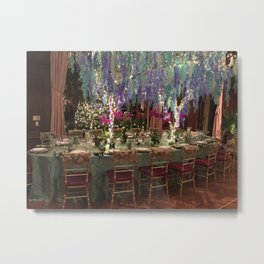 Christmas Dinner Table Metal Print