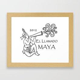 2012 El Llamado Maya (Tshirt) Framed Art Print