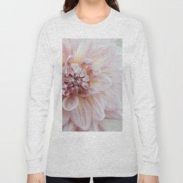 Blush Pink Dahlia, No. 1 Long Sleeve T-shirt