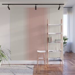 Pink Clay Vertical Gradient Wall Mural