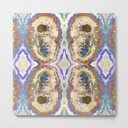 Gold Quartz Stalactite Crystal Art Metal Print