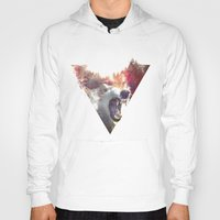 collage Hoodies featuring daylight moon by Robert Farkas