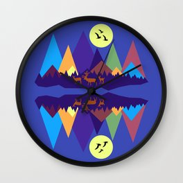 Mountain Scene #3 Wall Clock
