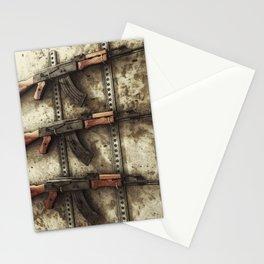 AK-47 Gun Rack Art Stationery Cards