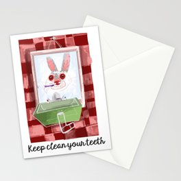 Keep clean your teeth Stationery Cards