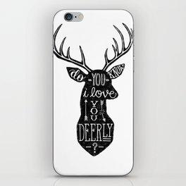 I LOVE YOU DEER - WHITE iPhone Skin